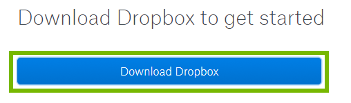Dropbox download page