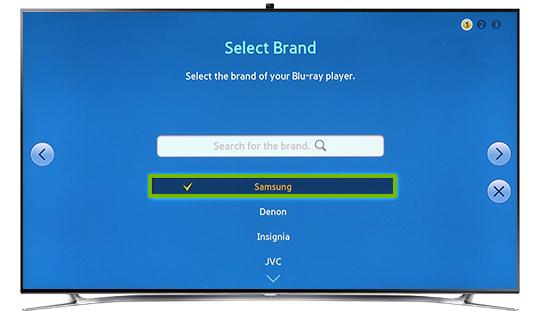 Samsung brand option.