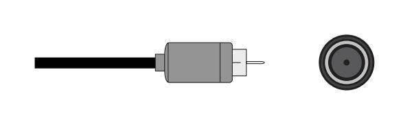 Coaxial plug and socket.