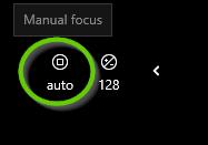 Manual focus button.
