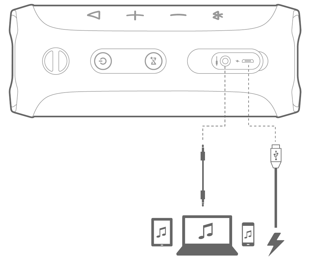 diagram of audio and u s b port