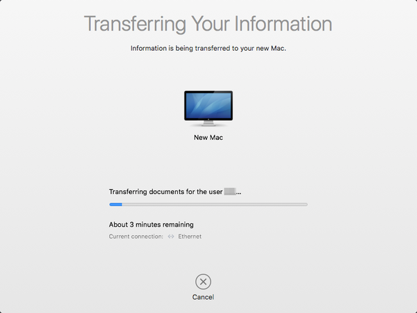 Transferring your Information to new Mac.