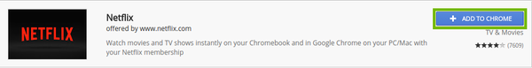 Store result with Add to Chrome highlighted.
