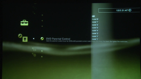 DVD Parental Control Levels