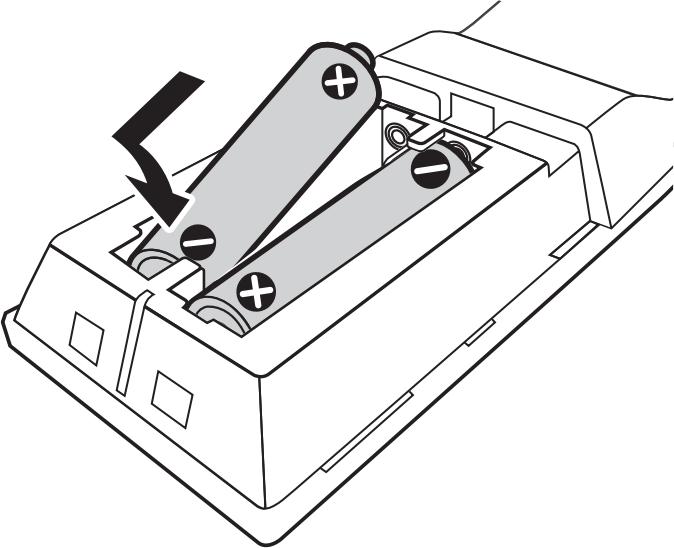 diagram of installing batteries
