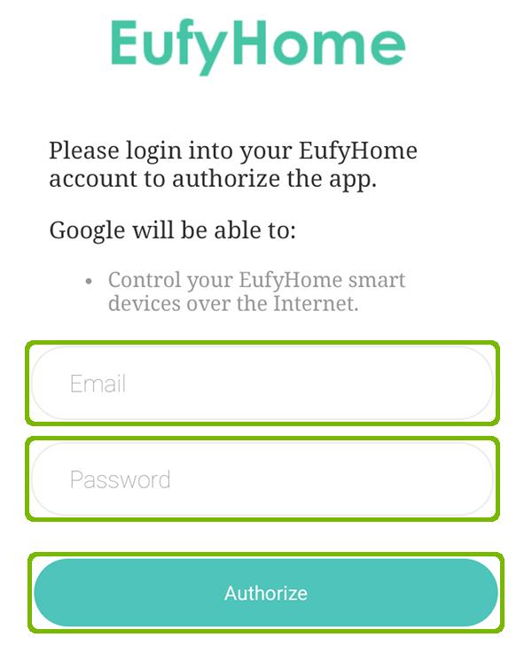 Authorize EufyHome.