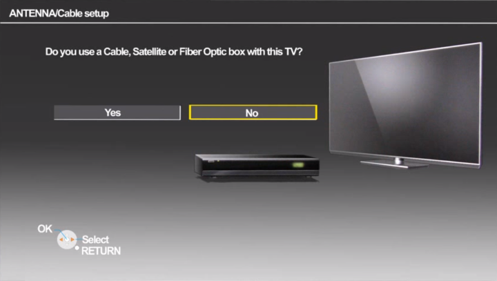 Cable box query screen