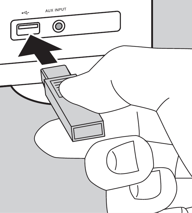 Person plugging in USB media into USB port