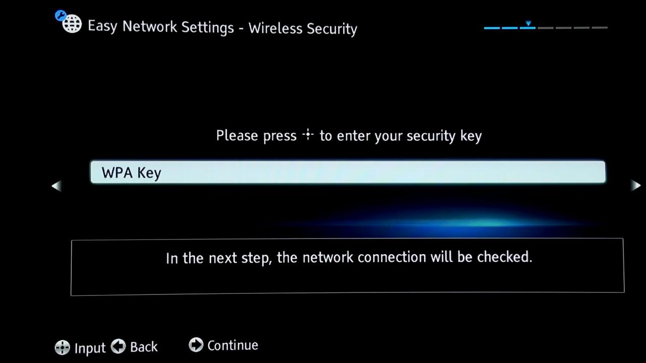 Select WPA Key