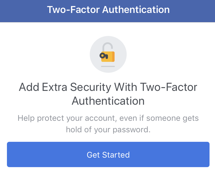 Two-factor authentication getting started image