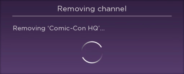 Sub-based app being removed on Roku.