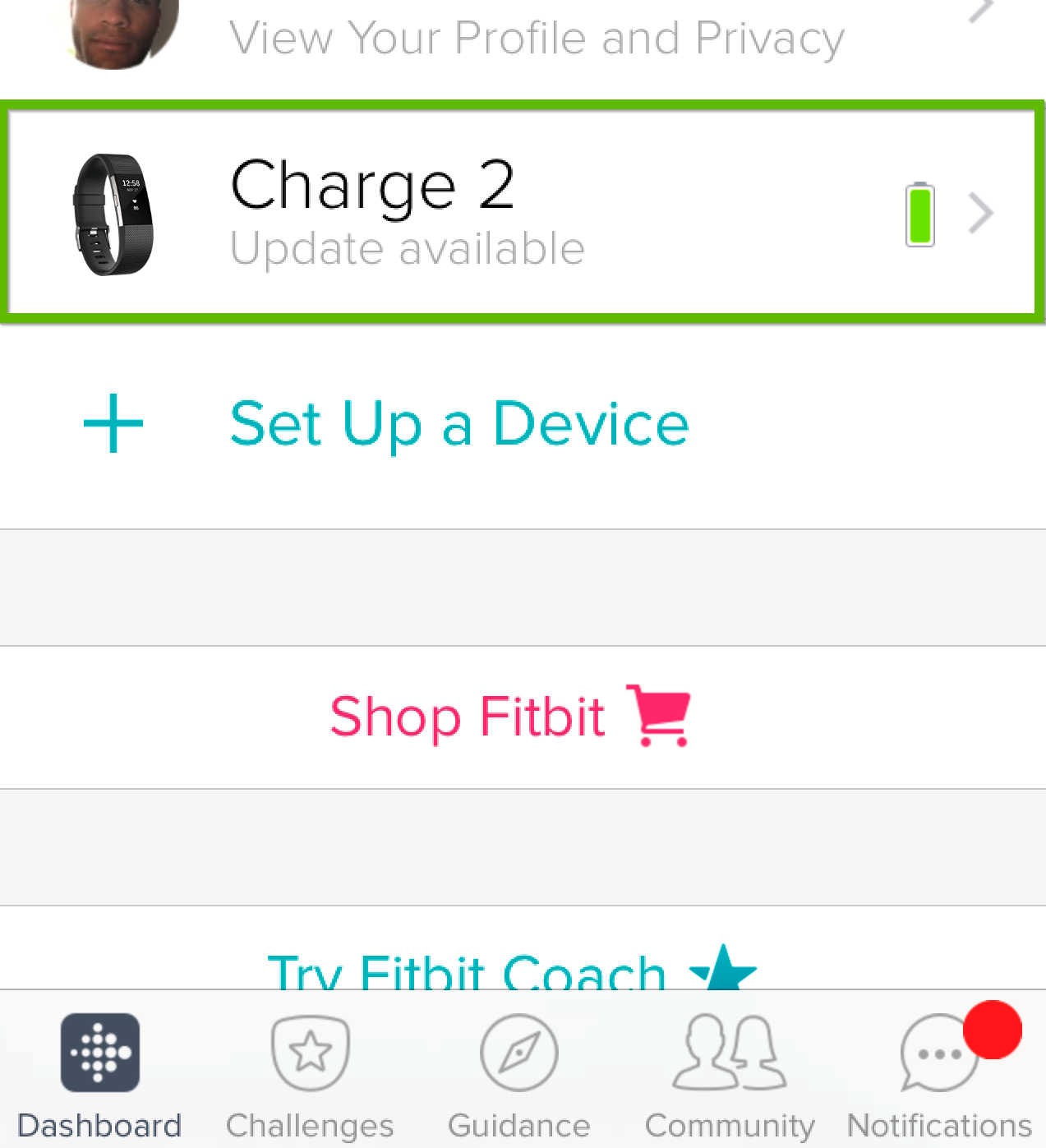 List of Fitbit devices.
