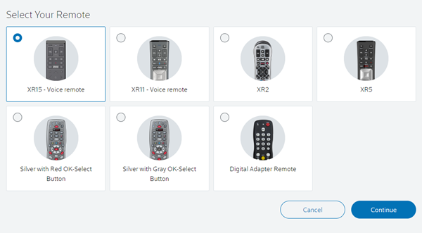 Selecting remote type