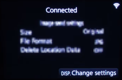 Wi-Fi setup completion confirmation screen