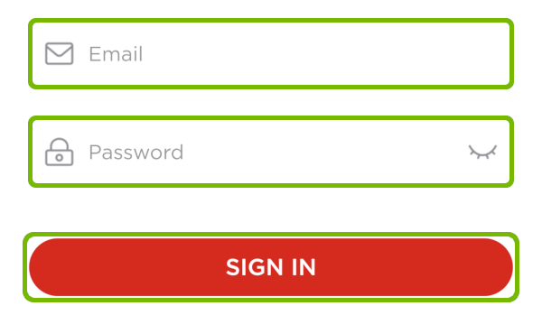 Log in screen with Fields highlighted.