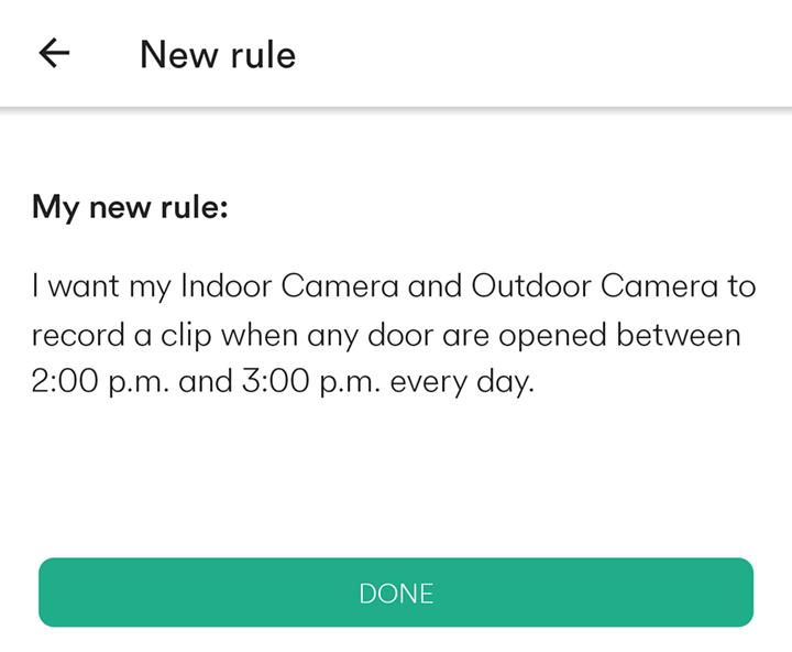 my new rule summary