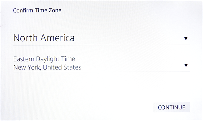 time zone entry