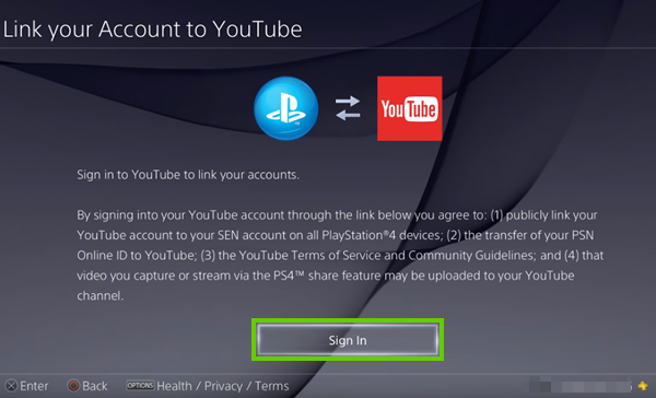 Live Stream Video from PlayStation 4 to YouTube - Support com