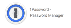 1Password icon and blurb