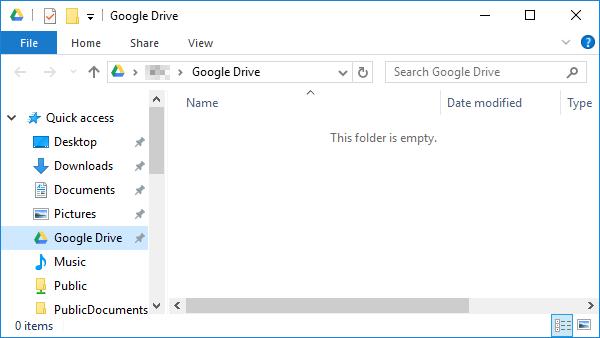 Google Drive folder.