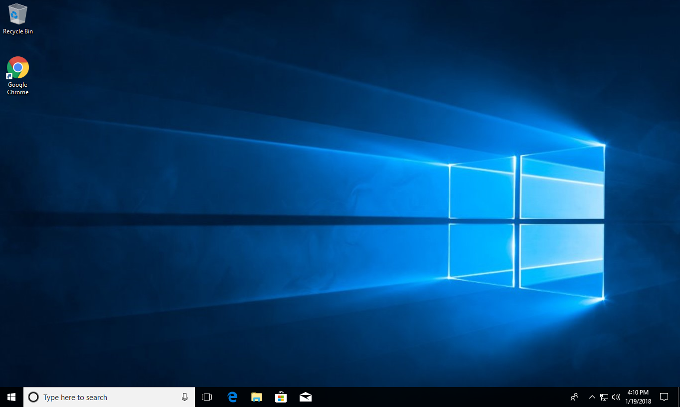 Screenshot of normal windows desktop