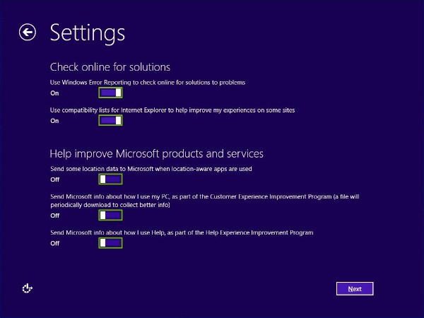 Microsoft reporting preferences highlighted