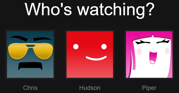 Who's watching? Select Netflix profile. Screenshot.