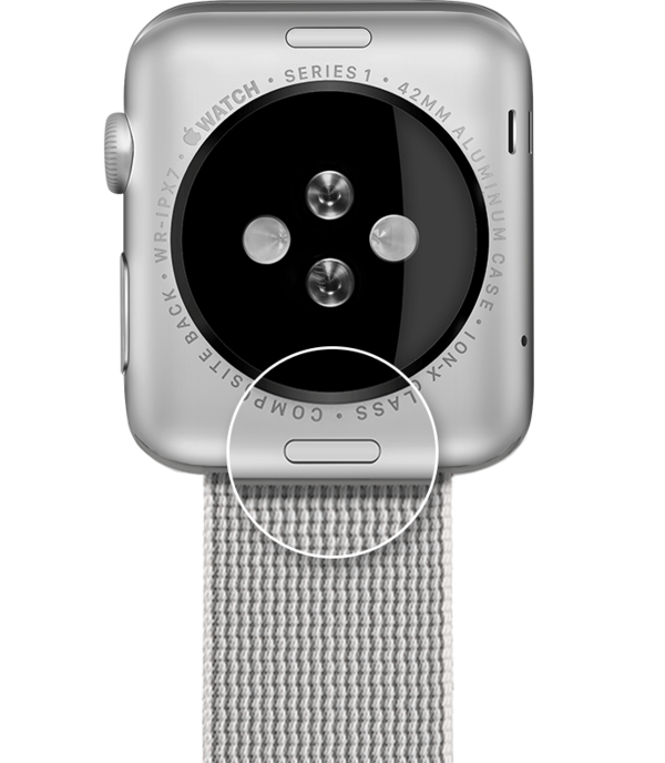 Watch band release switch.