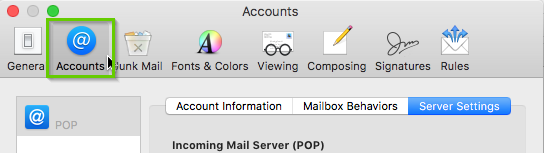 Mac mail accounts tab