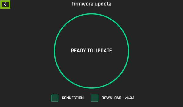 Back arrow highlighted in FreeFlight Pro app.