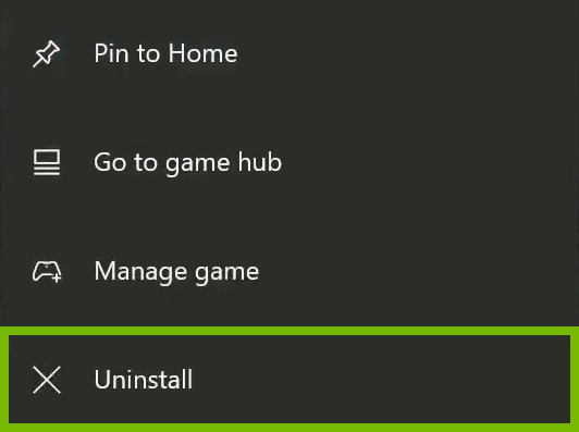 Uninstall option is highlighted in context menu.