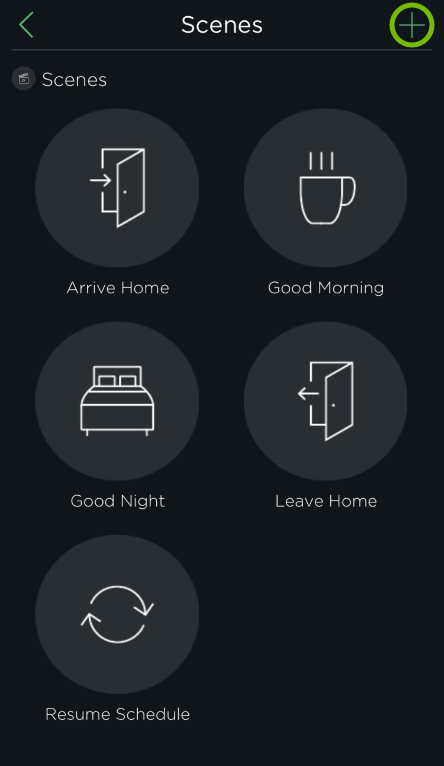 Plus sign highlighed in HomeKit settings of ecobee app.
