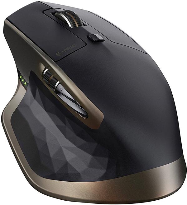 A logitech ergonomic mouse
