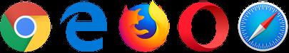 Main desktop browsers.