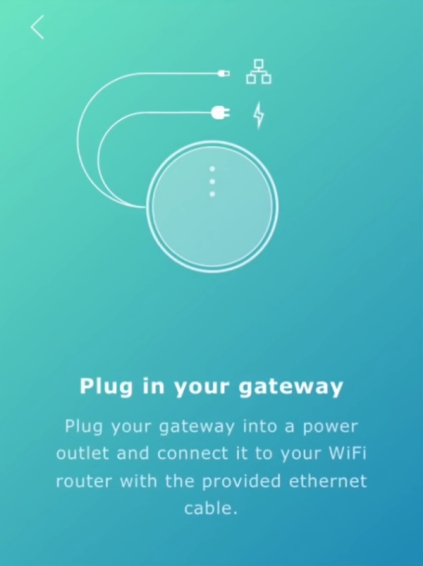 Gateway plug in screen in IKEA Home Smart app setup.