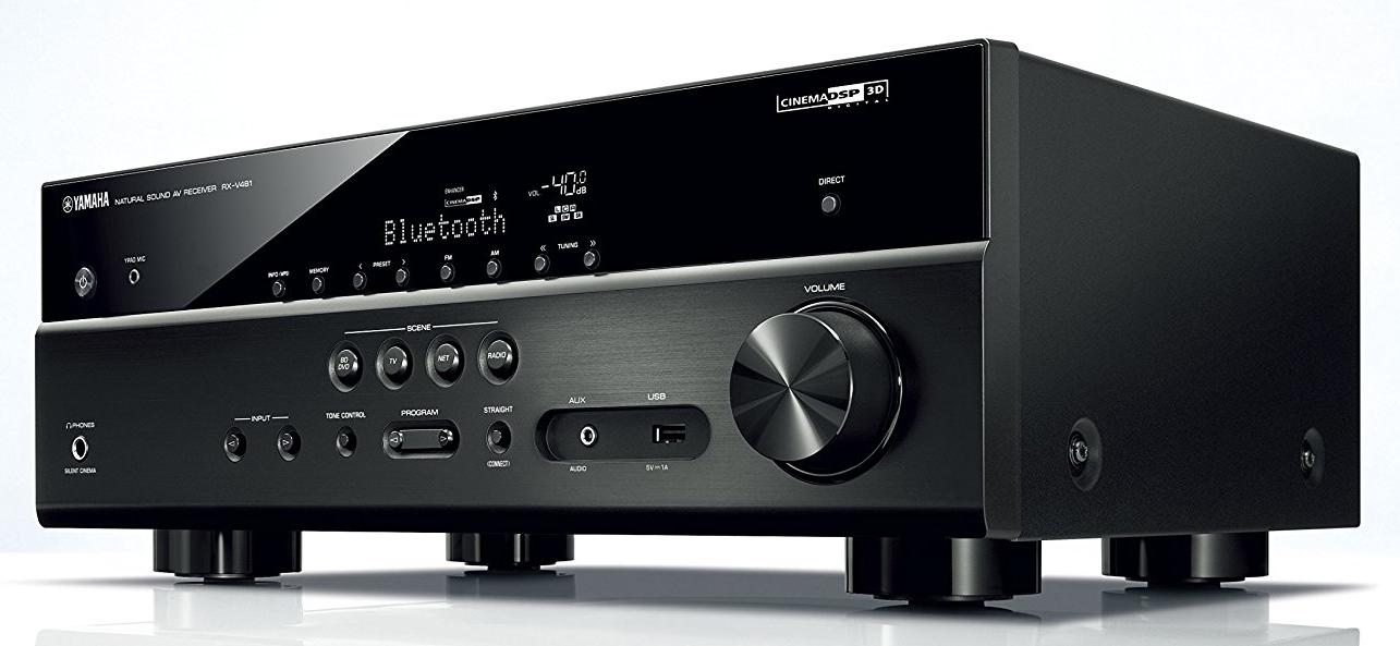 Yamaha RX-V481BL AV receiver.