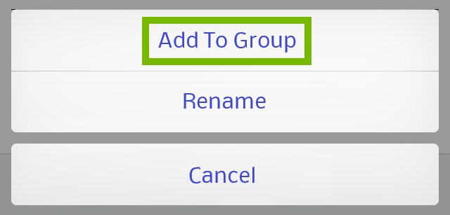 Add to group highlighted