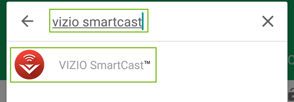 Searching for Visio Smartcast.