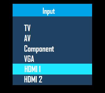 TV input