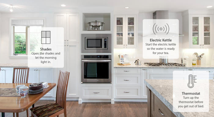 Kitchen controlled by Apple Homekit