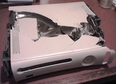 A broken xbox