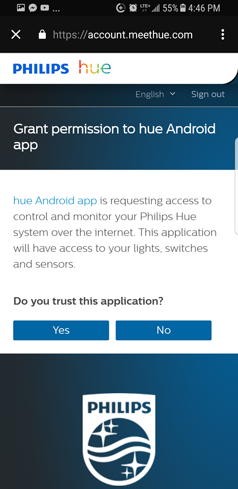 Mobile app permissions granting query screen.