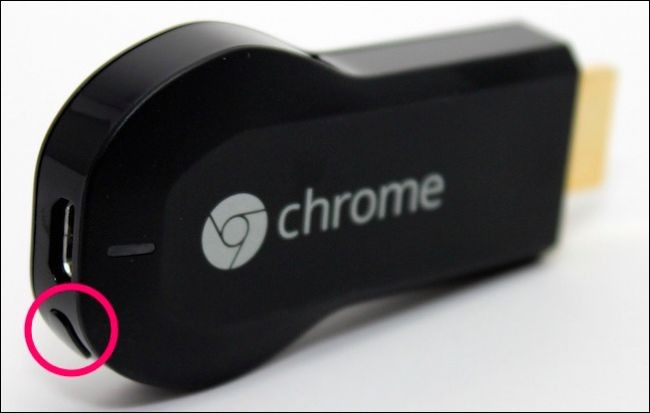 Chromecast first generation reset button