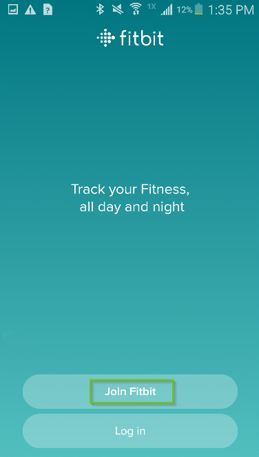 Fitbit app screenshot with Join Fitbit highlighted