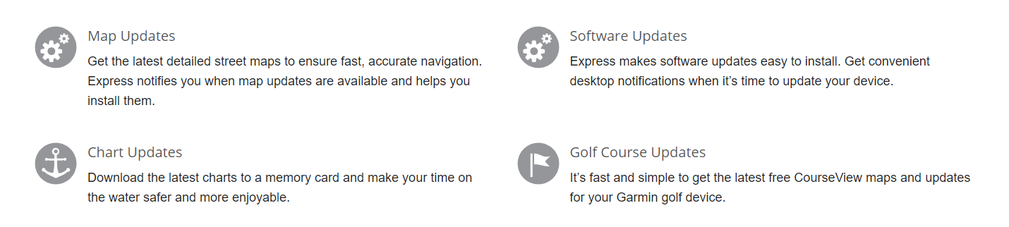 List of features for updating the Garmin Vivofit