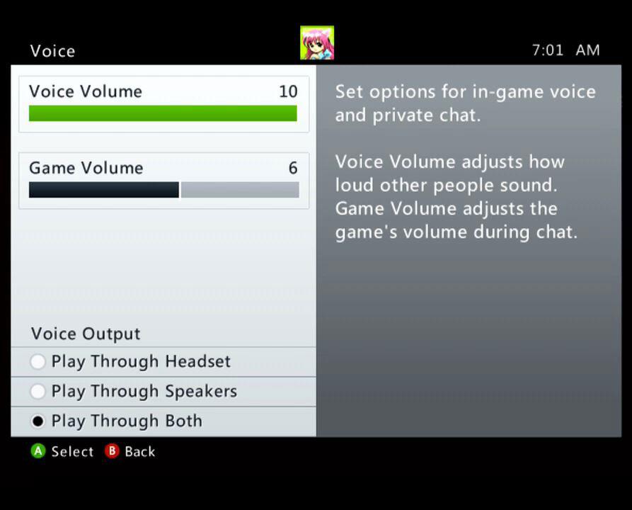 Xbox 360 voice controls