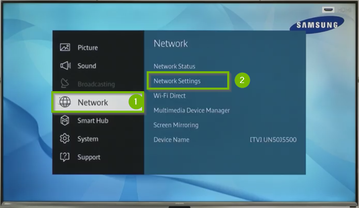 How To Connect Samsung Smart Tv To Wifi Support Com
