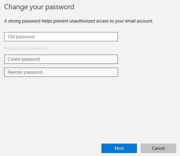 Windows 10 change your password popup