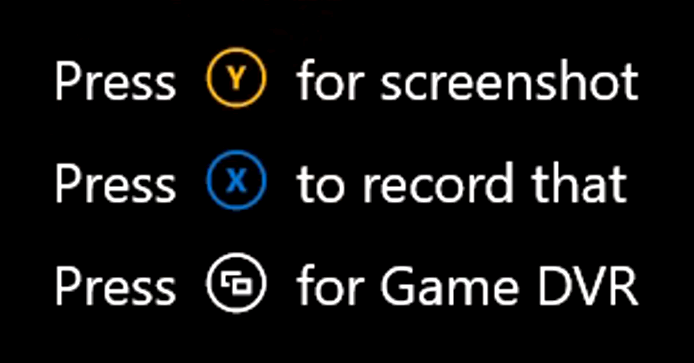 Xbox guide button capture options