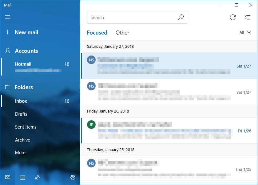 Open mail app